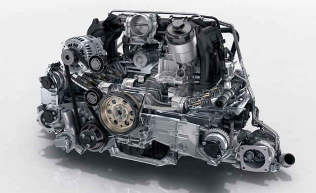 2017 Porsche 911 Carrera Engine