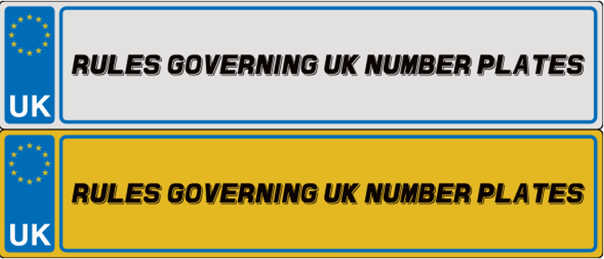 Rules Governing UK Number Plates