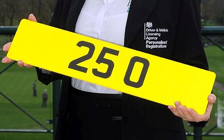 The most expensive number plate