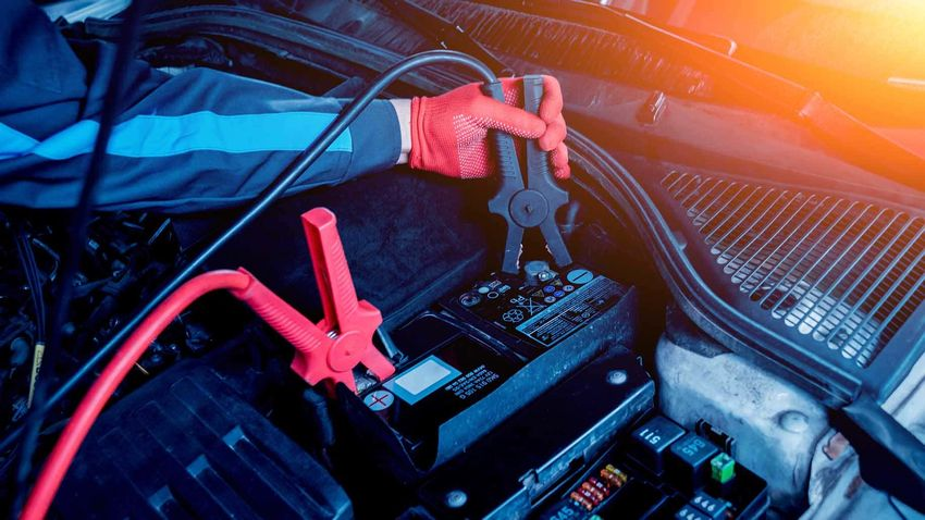 accumulator charging hands terminals car repair