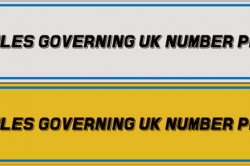 Rules Governing UK Number Plates 250x166